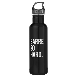 Barre so hard -   Yoga Fitness -.png 710 Ml Water Bottle