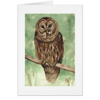 Barred Owl Note Card