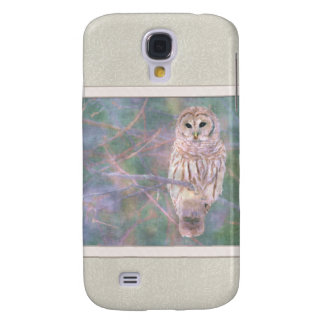 Barred Owl Pastel Oilpainting Galaxy S4 Case