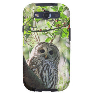 Barred Owl Staring Galaxy S3 Covers