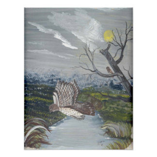 Barred Owl Takes Flight Poster