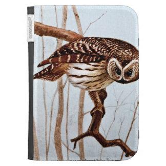 Barred Owl Vintage Wildlife Illustration Kindle Covers