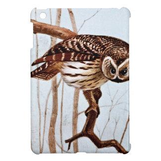 Barred Owl Vintage Wildlife Illustration Case For The iPad Mini