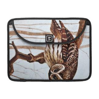 Barred Owl Vintage Wildlife Illustration MacBook Pro Sleeves