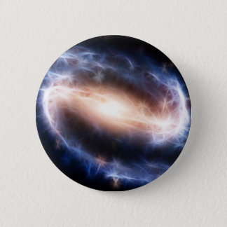 Barred Spiral Galaxy 6 Cm Round Badge