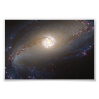 Barred Spiral Galaxy NGC 1097 Space Photo Art