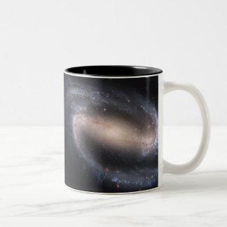 Barred Spiral Galaxy NGC 1300 Two-Tone Coffee Mug