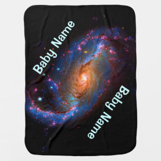 Barred Spiral Galaxy NGC 1672 Baby Blanket