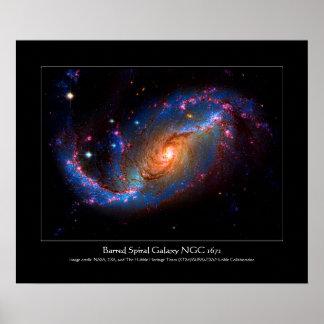 Barred Spiral Galaxy NGC 1672 Poster