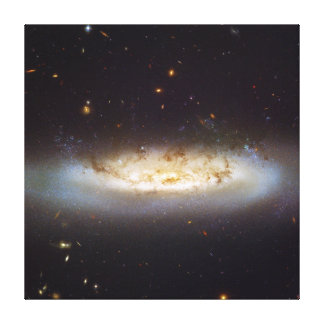 Barred Spiral Galaxy NGC 4522 Virgo Galaxy Cluster Gallery Wrapped Canvas
