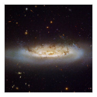 Barred Spiral Galaxy NGC 4522 Virgo Galaxy Cluster Poster