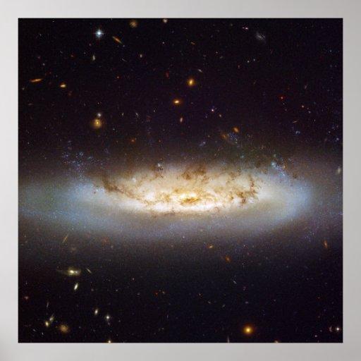 Barred Spiral Galaxy NGC 4522 Virgo Galaxy Cluster Print