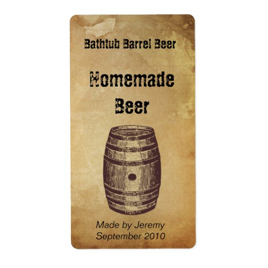 Barrel Beer Label