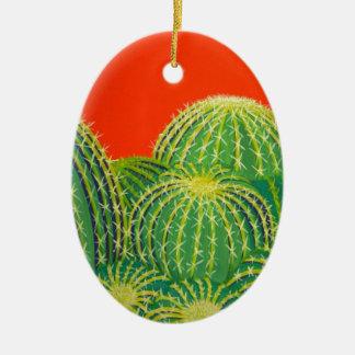 Barrel Cactus Christmas Ornament