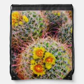 Barrel cactus close up, California Drawstring Bag