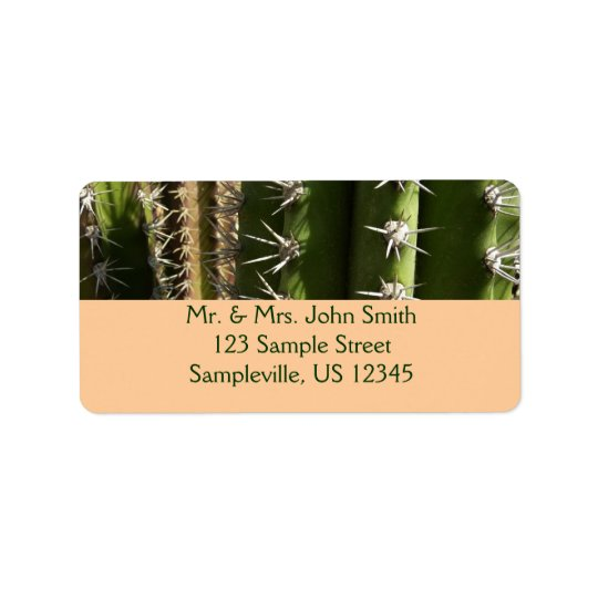 Barrel Cactus II Desert Nature Photo Address Label