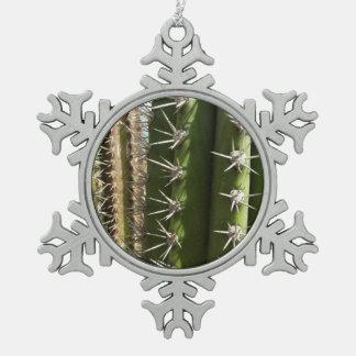 Barrel Cactus II Desert Nature Photo Pewter Snowflake Decoration