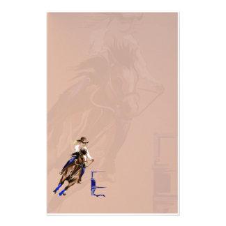 Barrel Horses Rock2 stationery_vertical.v2. Stationery Paper