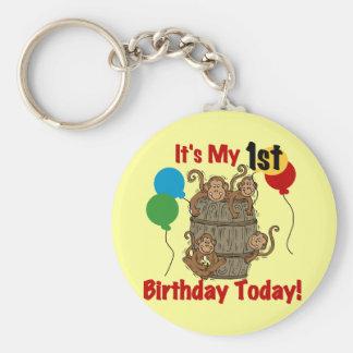 Barrel of Monkeys 1st Birthday Key Chains
