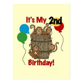 Barrel of Monkeys 2nd Birthday Tshirts and Gifts Postcard