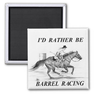 Barrel Racer Refrigerator Magnet