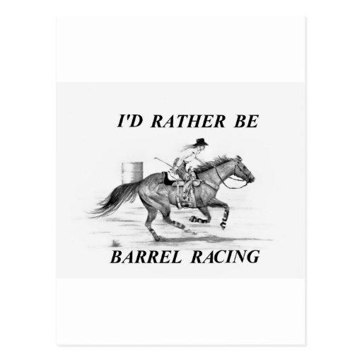 Barrel Racer Post Card