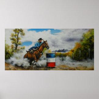 Barrel Racer Poster