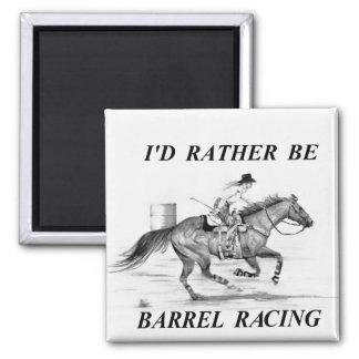 Barrel Racer Square Magnet