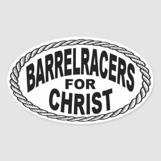 Barrel Racers for Christ Euro Style Oval Sticker