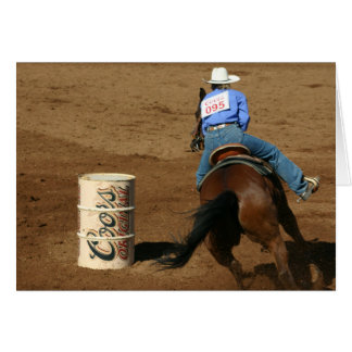 Barrel Racing Cowgirl Western Card
