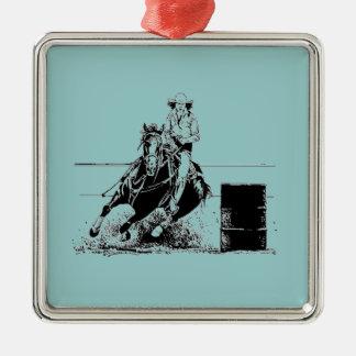 Barrel Racing Horse Christmas Ornament