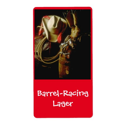 Barrel Racing Lager Western brewing Beer Label