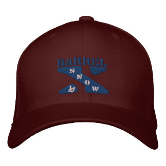 Barrel X Snow-Embroidered Hat Embroidered Cap