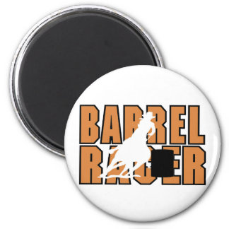 Barrell Racer T-shirts and Gifts. 6 Cm Round Magnet