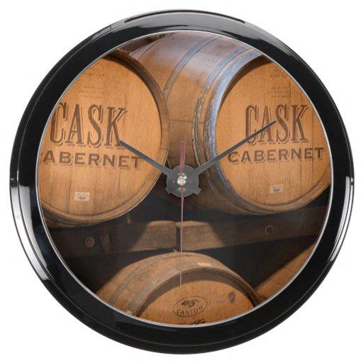 Barrels In The Cellar Aquarium Clock