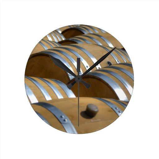 Barrels Of Wine Wallclocks