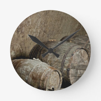 Barrels resting wall clocks