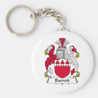 Barrett Family Crest Key Ring