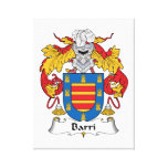 Barri Family Crest Canvas Prints