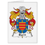 Barri Family Crest Greeting Cards