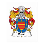 Barri Family Crest Post Card