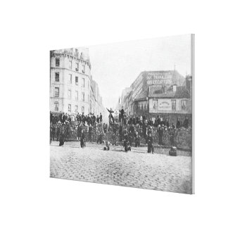 Barricade at the Faubourg Saint-Antoine Canvas Print