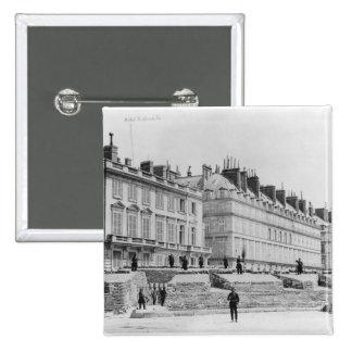 Barricade during the Commune of Paris 15 Cm Square Badge