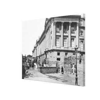 Barricade during the Commune of Paris Canvas Print