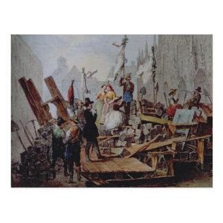 Barricades in the Stephansplatz, Vienna, 1848 Postcards