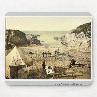 Barricane Shell Beach, Morthoe, England rare Photo Mousepads