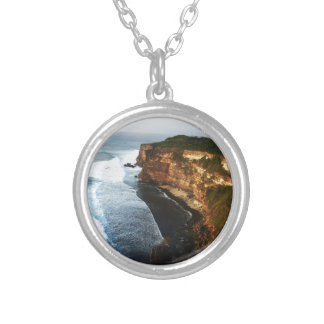 Barrier in Bali Round Pendant Necklace