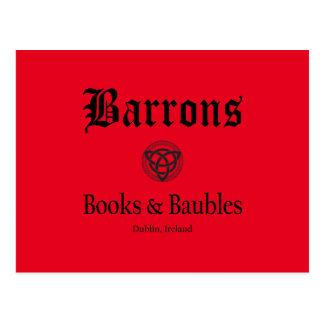 Barrons Books and Baubles Postcard