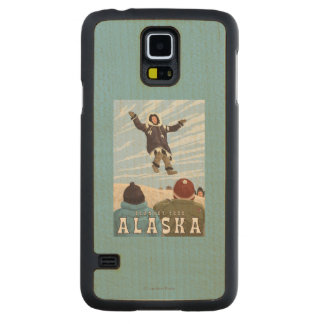 Barrow, Alaska Blanket Toss Vintage Travel Maple Galaxy S5 Slim Case
