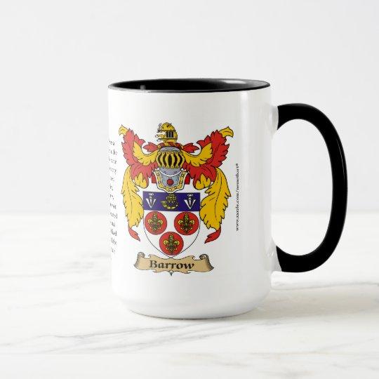Barrow Family Coat of Arms Mug